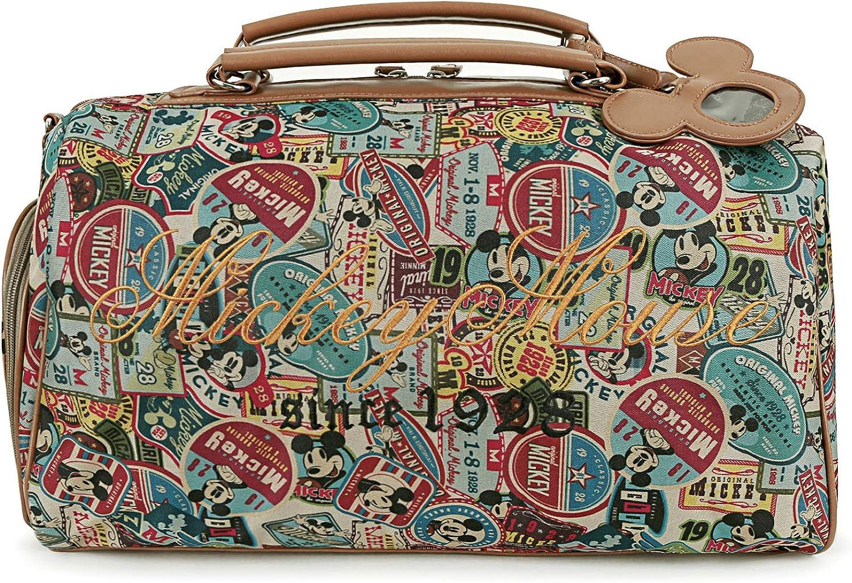 ililily Disney Mickey Mouse Vintage Pattern Weekender Duffle Travel Golf Bag