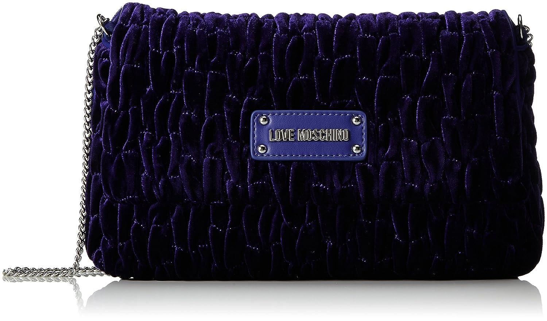 Borsa Fabric Viola, Womens Cross-Body Bag, Violett (Violet), 17x28x5 cm (B x H T) Love Moschino