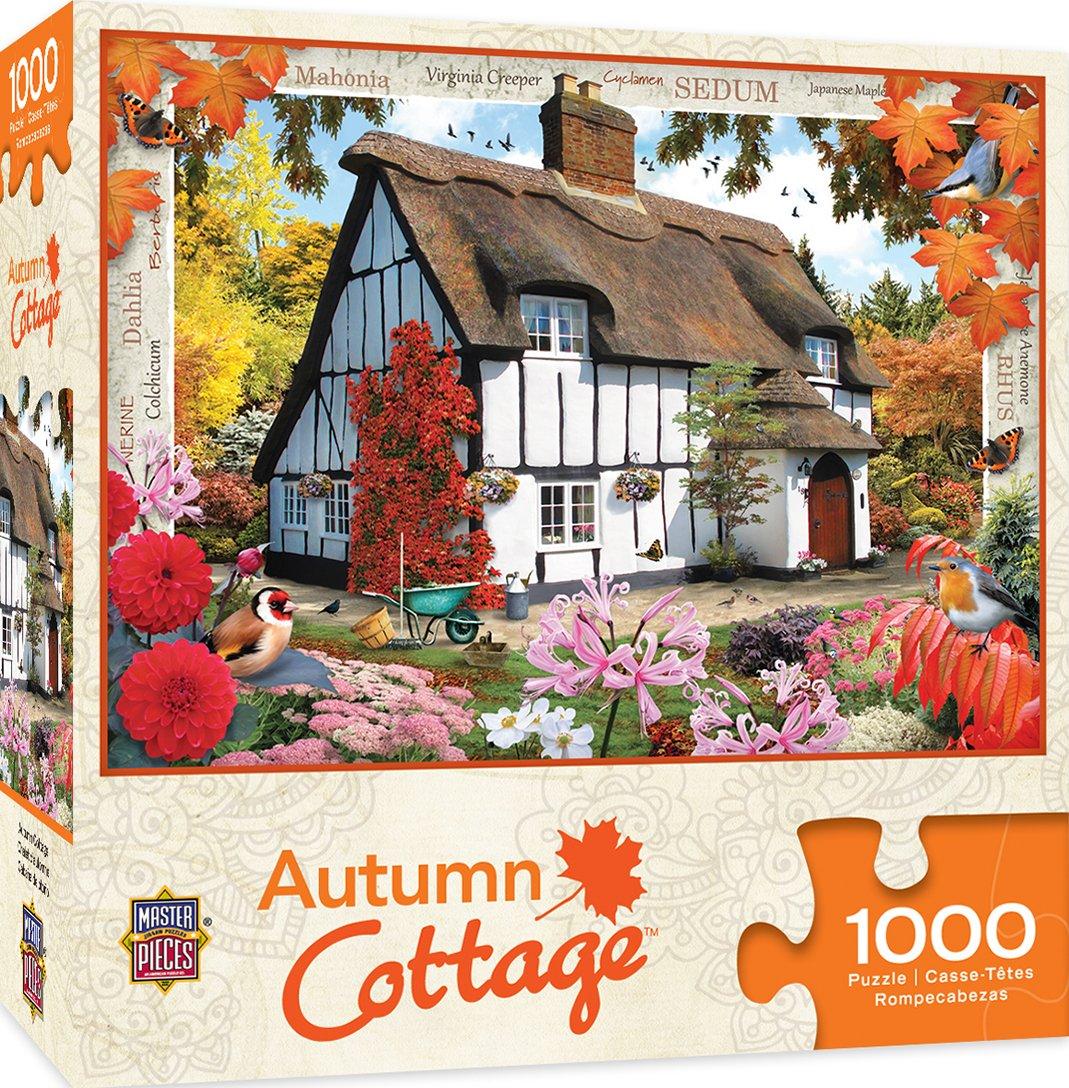 【第1位獲得!】 MasterPieces Puzzle Company Flower Autumn x Cottage Puzzle Flower (1000 Piece), Piece), Multicoloured, 49cm x 70cm B07CPQ3B93, エプロン、仕事着のお仕事商店:671863ee --- a0267596.xsph.ru