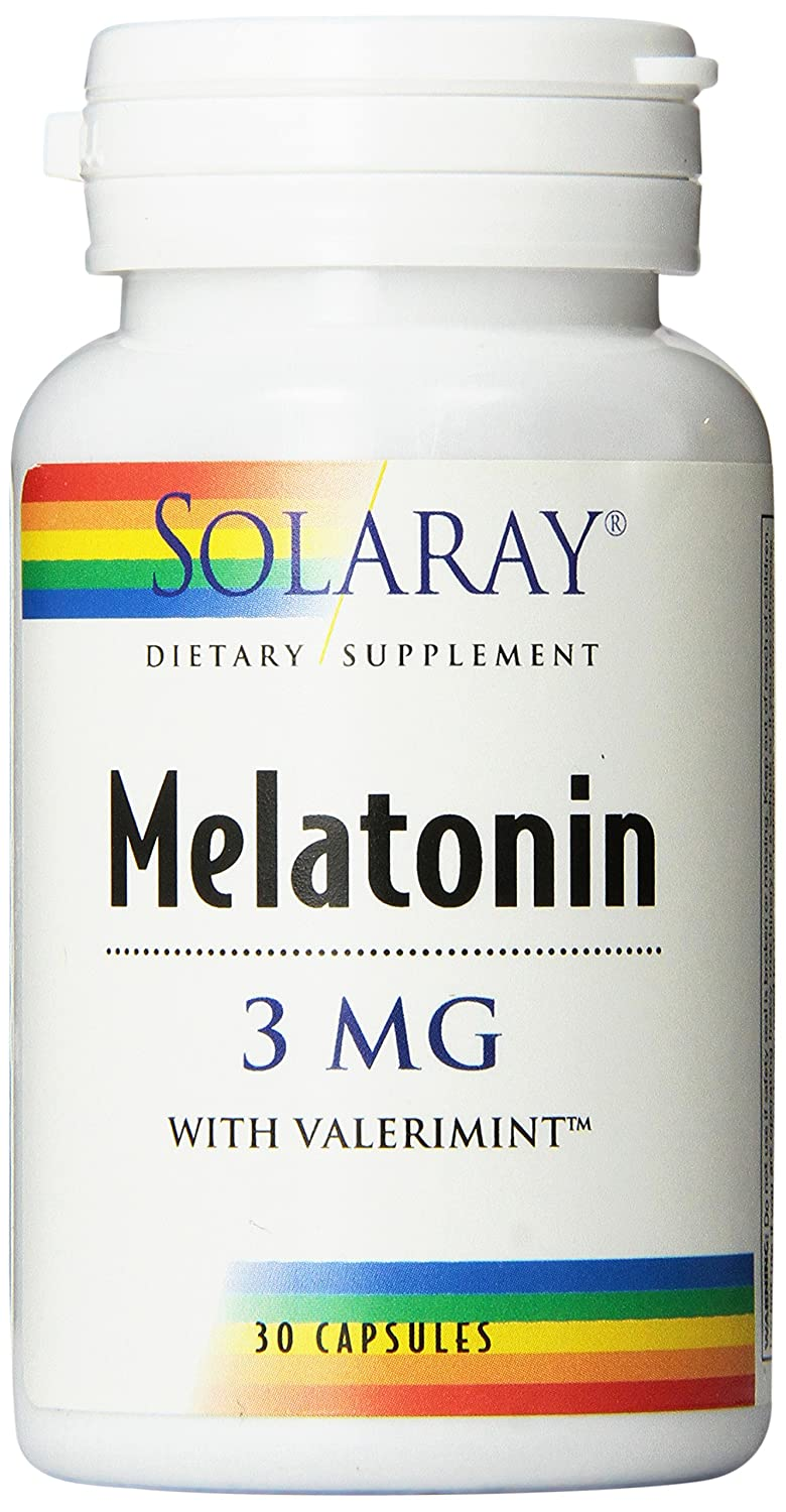 Solaray Melatonin-3 with Valerimint Supplement, 3 mg, 30 Count