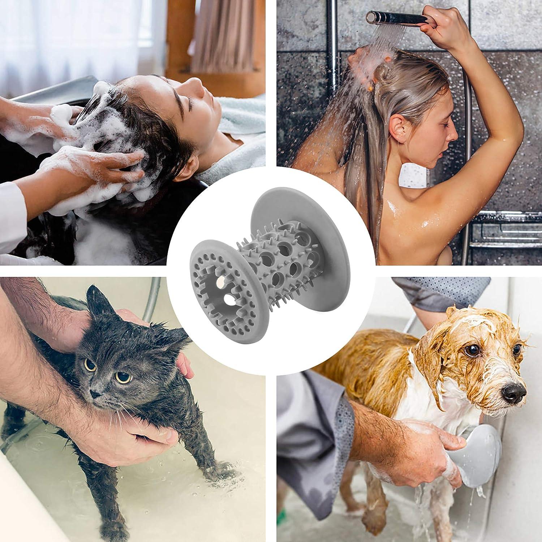 2er Badewanne Dusche Haarsieb//Schlinge//Falle TPR Standard Drain Protector f/ür Bad Plug Cover Support Drain Gr/ö/ße von 1,5 Zoll bis 1,75 Zoll FLSLHS Tub Drain Hair Catcher gr/ün
