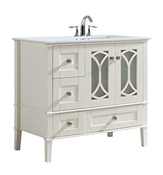 Simpli Home Axcvpaw 36r Paige 36 Inch Right Offset Bath Vanity In - Which-type-of-bathroom-sink-is-right-for-you