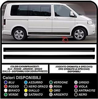 Best Racing n Stripes de Vinilo Adhesivo para Volkswagen Transporter, líneas Laterales, Color Negro: Amazon.es: Coche y moto