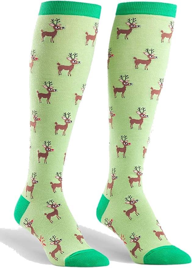 Sock It To Me Don/'t Stop Believing Funky Knee High Socks