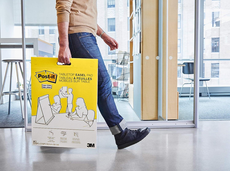 grafico delle riunioni Post-it 559 1 pz. Bianco Lavagna con Fogli Adesivi Removibili con 30 fogli- 63,5 x 76,2 cm