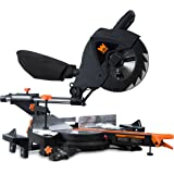 WEN 70730 15A Two-Speed Single Bevel 10-Inch Sliding Compound Miter Saw with Smart Power Technology