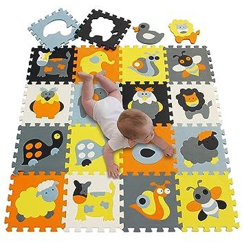 Amazon.com: Tapete de espuma para juegos de bebé con ...