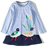 Amazon Price History for:Fiream Girls Applique Cotton Casual Longsleeve Cartoon Dresses