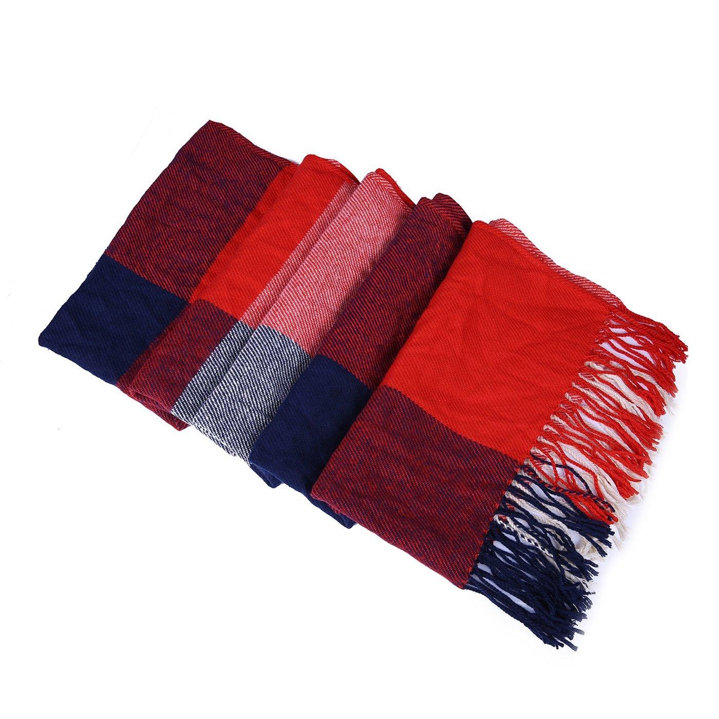 HDE Plaid Throw Ultra Soft Warm Winter Cabin Home Decorative Flannel Throw Blanket