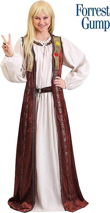 Jenny Curran Forrest Gump Adult Fancy Dress Costume S Amazon De Spielzeug