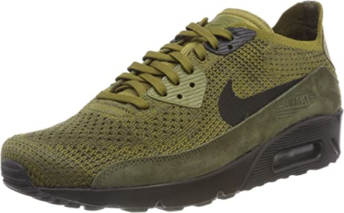 firma Desafío Numérico  Nike Men's Air Max 90 Ultra 2.0 Flyknit Low-Top Sneakers, Green (Olive  Flak/Black-Cargo Khaki 302), 6 UK (40 EU): Amazon.co.uk: Shoes & Bags