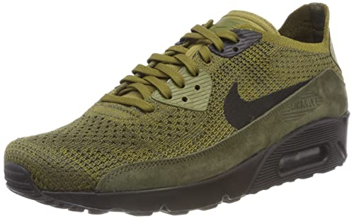 new arrival e3cf6 a8997 Nike Air Max 90 Ultra 2.0 Flyknit, Scarpe da Ginnastica Basse Uomo, Verde (