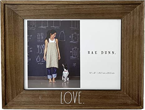 Amazon Com Rae Dunn Love Picture Frame 8 X 10 In Photo Holder For Desk Or Table Top Display Rustic Distressed Brown Wood Design For Family Photos Diploma Art Stylish