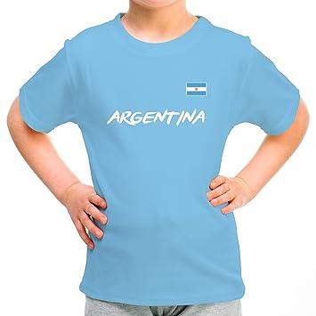 a7b0d82fad8a8 Lolapix Camiseta seleccion de Futbol Personalizada con Nombre y número.  Camiseta de algodón para niños. Elige tu seleccion. Argentina  Amazon.es   Hogar