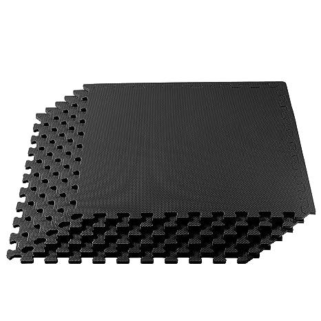 Anti-Fatigue Mat 3 ft Black x 3 ft. Interlocking