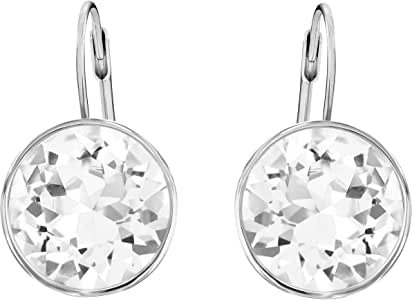 SWAROVSKI Women's Bella Pierced Earrings, White, Rhodium plated