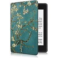 易科达 Kindle保护套 Paperwhite4保护套 958保护壳 仅适用于Kindle Paperwhite 4(第10代)电子书阅读器 (即2018版 Kindle Paperwhite 4) 智能休眠唤醒 (paperwhite 4, 杏花)