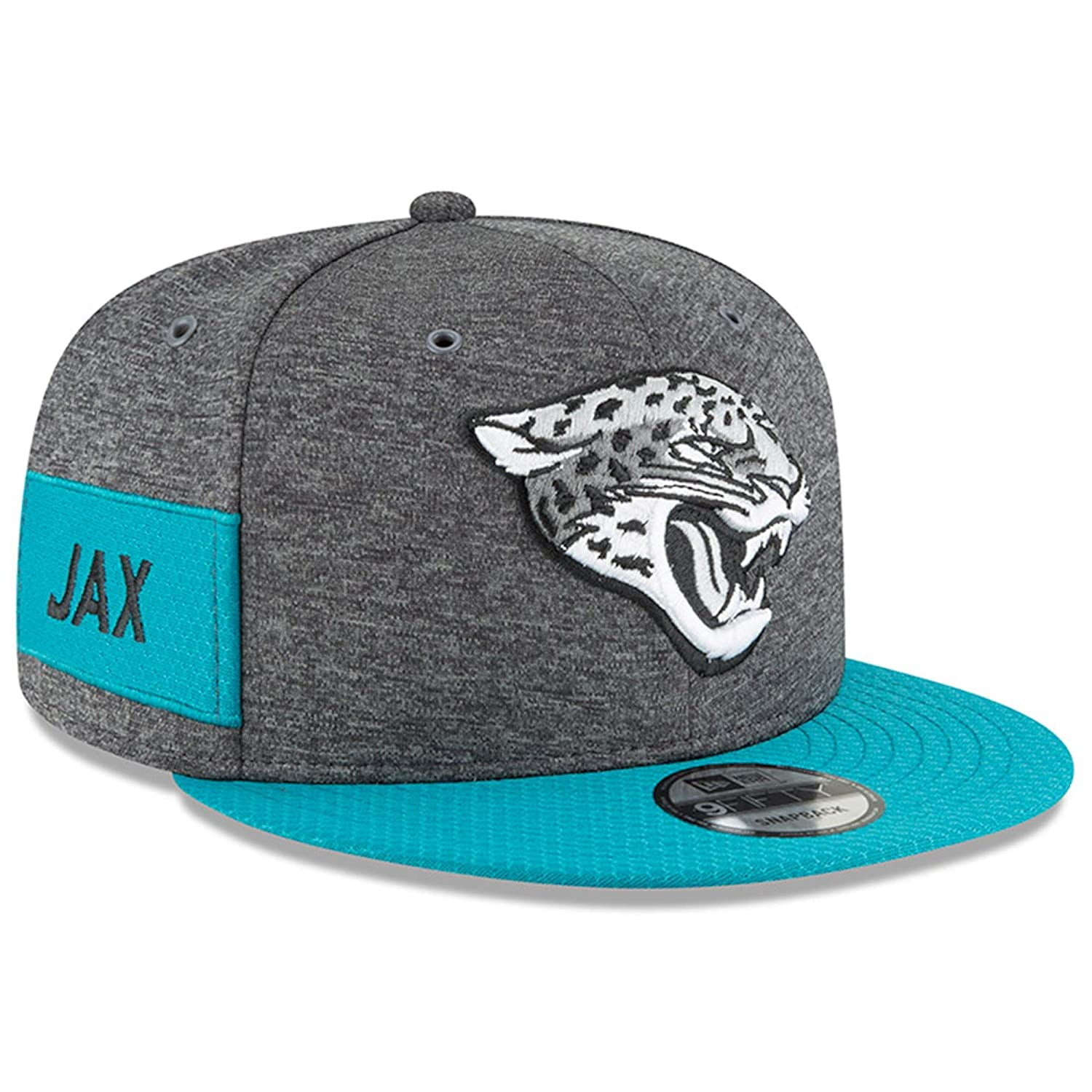 low cost 895c5 7ae1f Amazon.com   New Era Jacksonville Jaguars 2018 Sideline Onfield NFL  Graphite Charcoal Teal 9Fifty Snapback Adjustable Hat, OSFM   Sports    Outdoors
