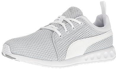 Puma Men s Carson Knitted Cross Trainer Shoe Quarry White 7 M US