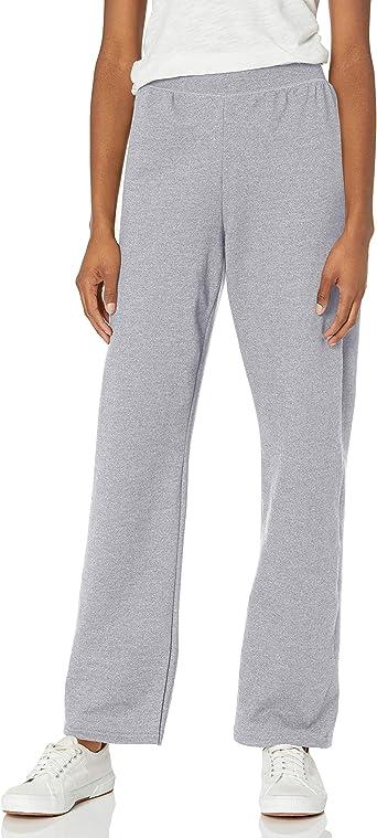 Hanes ComfortSoft EcoSmart Women's Petite Open Bottom Leg Sweatpants