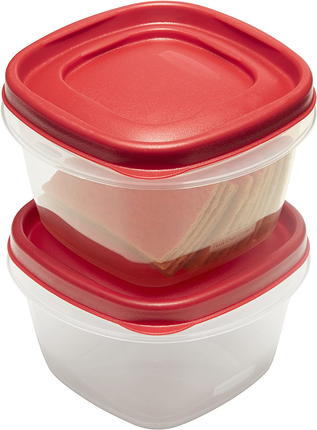 Rubbermaid Easy Find Lids Food Storage Containers, 2 Cup, Racer Red, 4-Piece Set 1857116