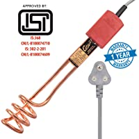 Hot Track Easio Brass Immersion Water Heater Rod with ABS Body