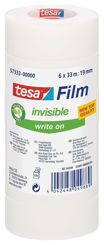 33m x 19mm tesafilm Vorteilspack mit 6 Rollen matt-unsichtbar