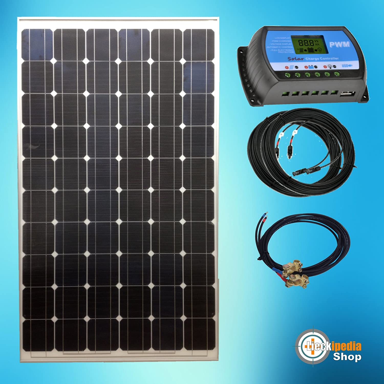 190 Watt 12 Volt Solar Bausatz Solaranlage Inselanlage Basis Set Garten Camping