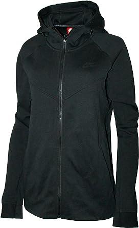 Nike Womens Plus Size Sportswear Tech Fleece Hoodie BLACK ...