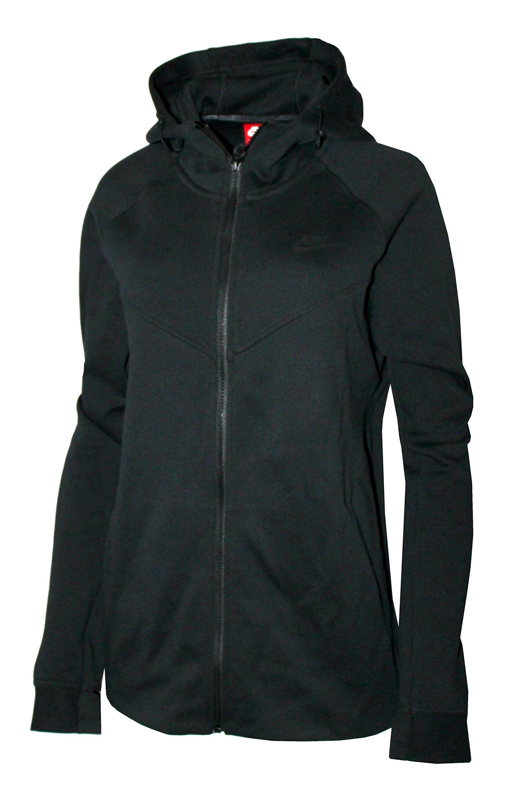 Nike Womens Plus Size Sportswear Tech Fleece Hoodie BLACK (2X)
