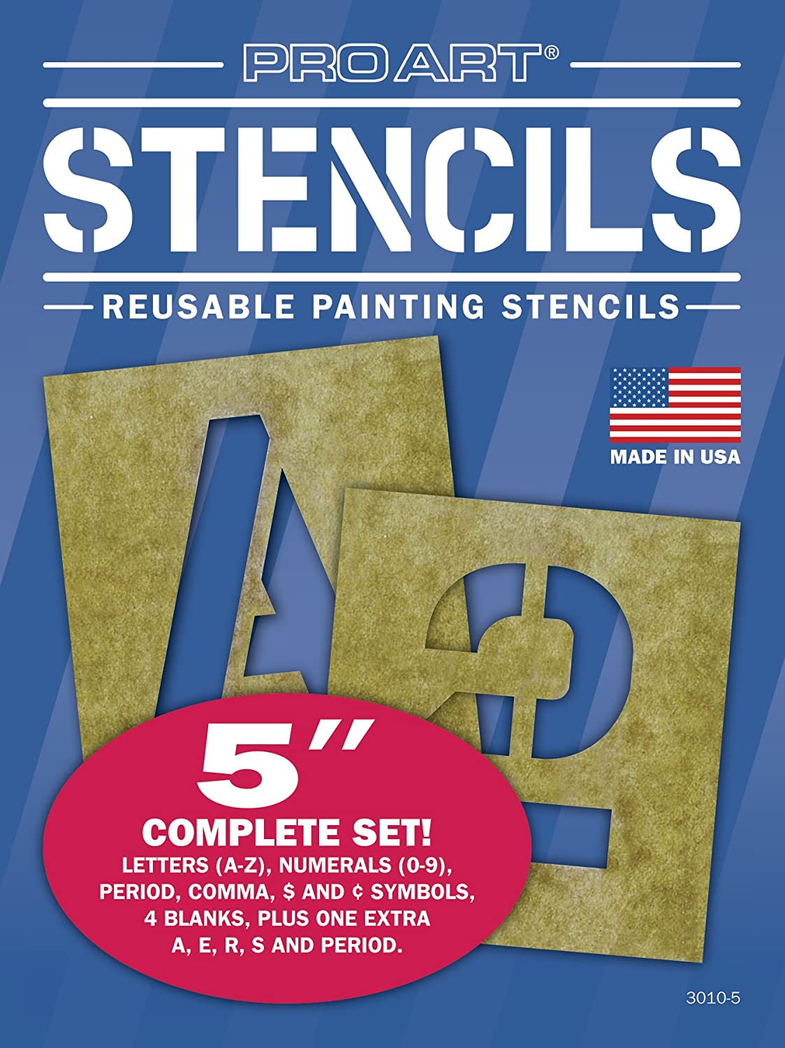Amazon pro art 5 inch painting stencil set letters and amazon pro art 5 inch painting stencil set letters and numbers arts crafts sewing amipublicfo Image collections