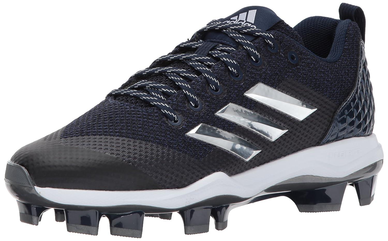 adidas Performance メンズ PowerAlley 5 TPU B01N9JUZJQCollegiate Navy/Metallic Silver/White 12 Medium US