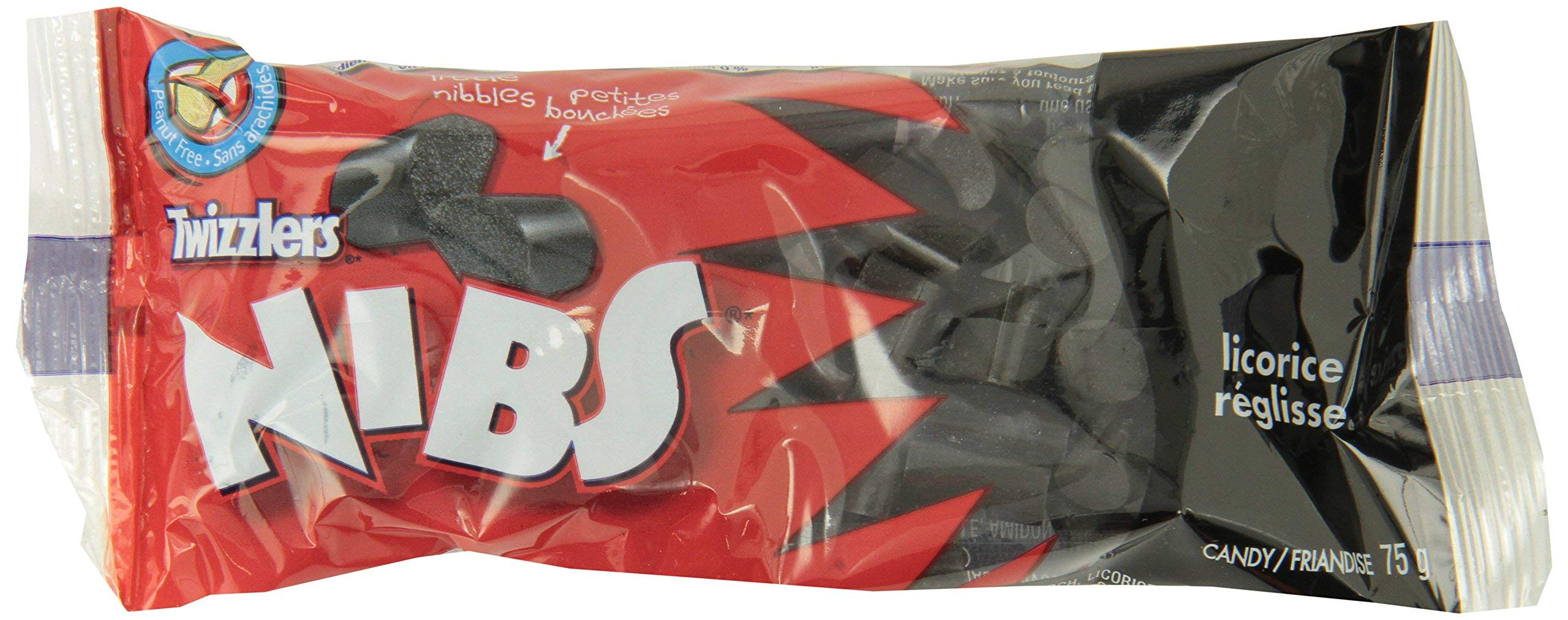 TWIZZLERS Black Licorice Candy, Nibs, 24 Count