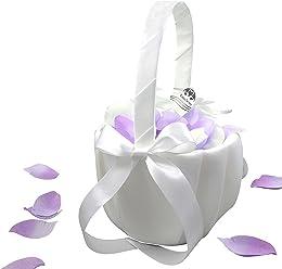 EinsSein 1x Streukörbchen Hochzeit Julia Blumenkinder Hochzeit Blumenkorb Blumenkörbe Blumenmädchen Blumendeko basket girl flower