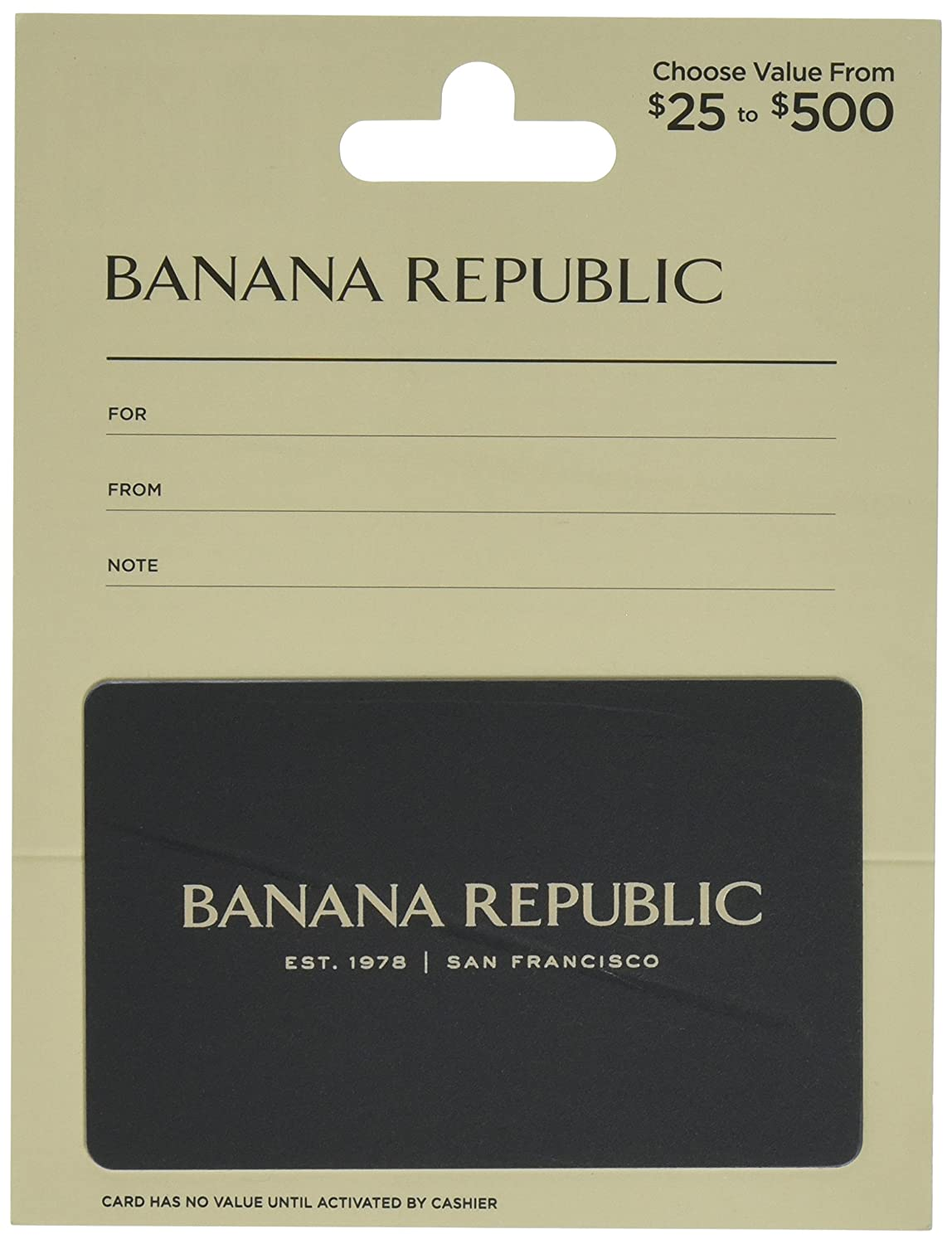 Banana Republic Gift Card Banana Republic $25 Gift Card