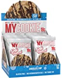 Pro Supps MYCOOKIE Delicious Soft Baked Protein Cookie, Chocolate Chip, 18g Protein, 7g Sugar, Gluten-Free, No Trans Fat, Healthy On-The-Go Snack, 12 ct, Net Wt 1.94 oz.