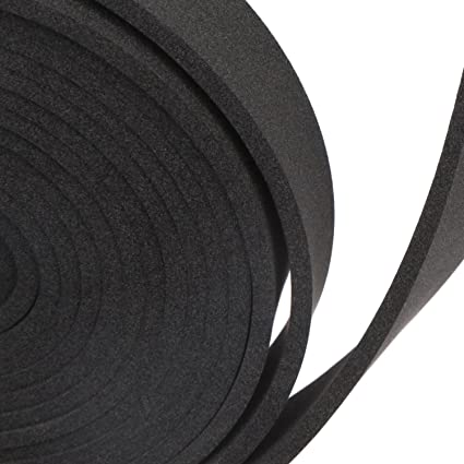 Foam Padding Roll >> Magzo Black Foam Padding Foam Long Roll 1 8 Thick X 1 Wide X 9 8 Feet Long Noise Insulation Weather Strip Non Adhesive Closed Cell Foam Roll