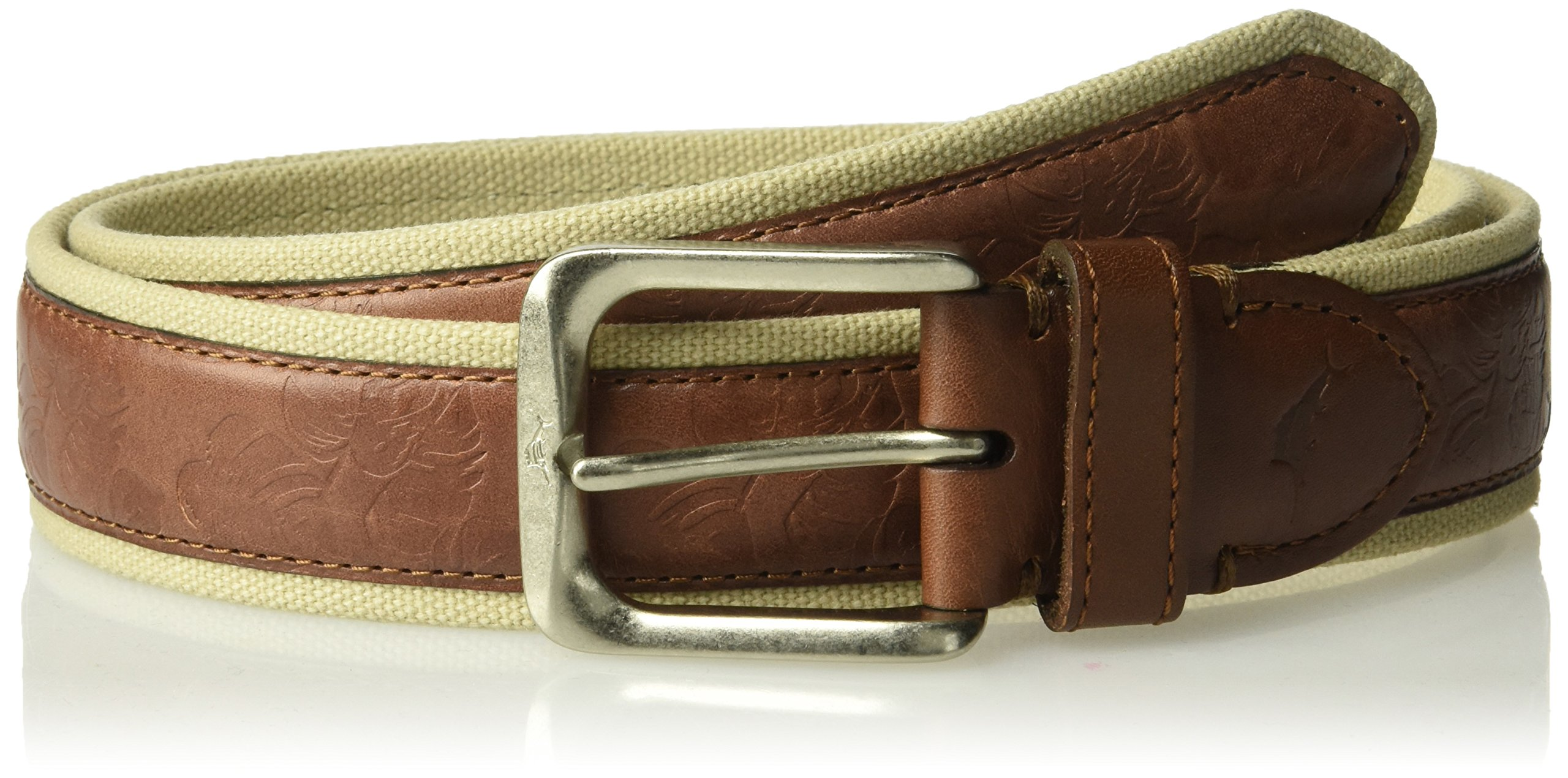 Tommy Bahama Men's Fabric Belt, brown, 44
