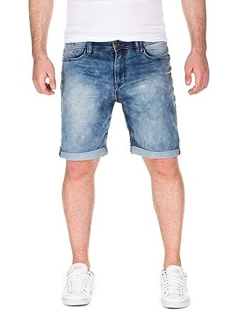 Urban Surface Herren Sweat Bermuda Shorts in Jeansoptik