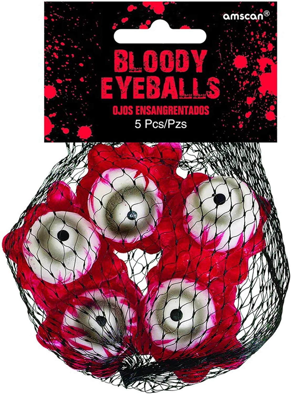 Amscan 670470 Bloody Eyeballs   Halloween Decor 5 ct