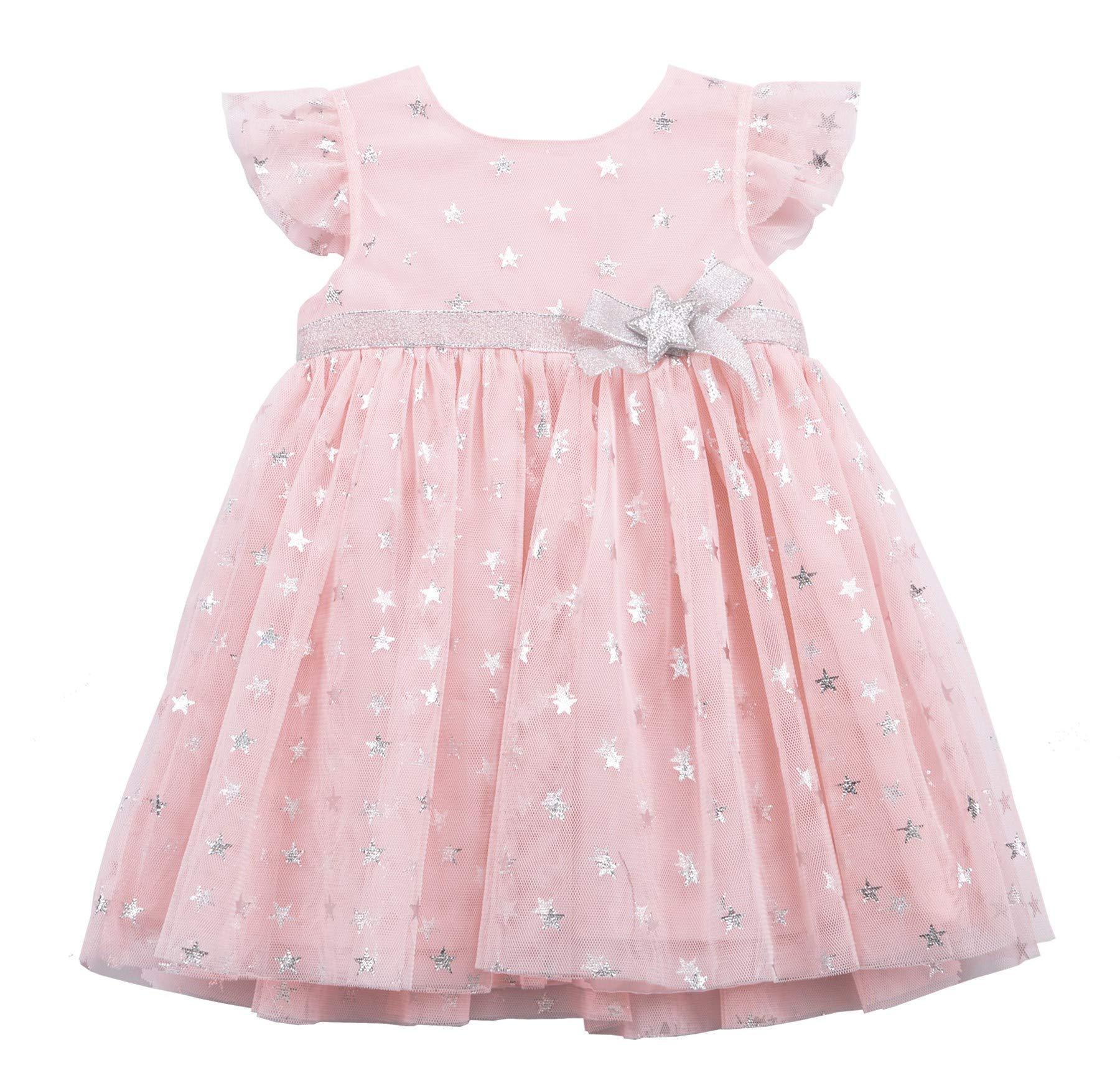 For Beloved Children Newborn Infant Baby Girls Dresses Kids Tutu Tulle Birthday Wedding Party Special Occasion Playwear 0-24 Months (12 Month, Pink 1629)