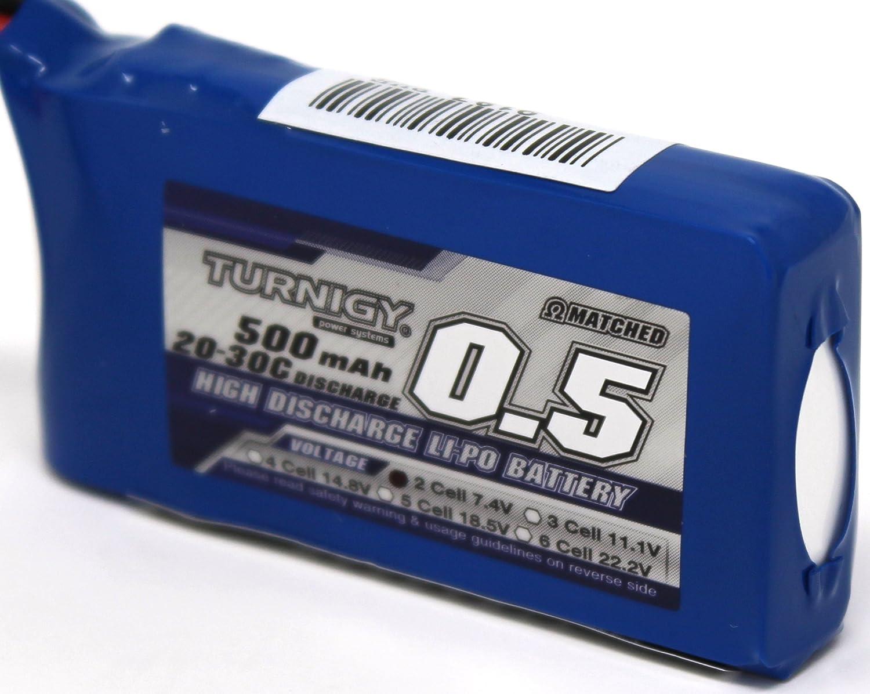 PZS Stores Turnigy 20C-30C 500 mAh, 2S, 7,4 V Bater/ía de pol/ímero de Litio