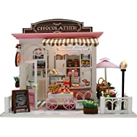 Flever Dollhouse Miniature DIY Music House Kit Creative Room with Furniture for Romantic Valentine's Gift (Cocoa's…