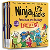 Ninja Life Hacks Emotions and Feelings 8 Book Box Set (Books 1-8: Angry, Inventor, Positive, Lazy, Helpful, Earth, Grumpy, Ki