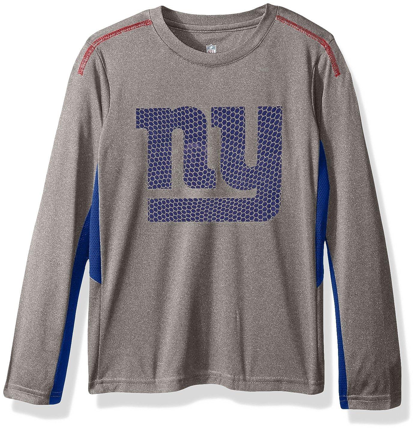 Kids Small 4 Outerstuff NFL New York Giants Kids Classic Gridiron Long Sleeve Raglan Tee Dark Grey Heather