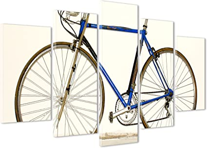Cuadro sobre lienzo Canvas – ConKrea – Listo para colgar – Bicicleta de carretera Vintage: Amazon.es: Hogar