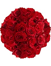 GlobalRose 100 Red Roses- Next Day Delivery- Fresh Cut Flowers