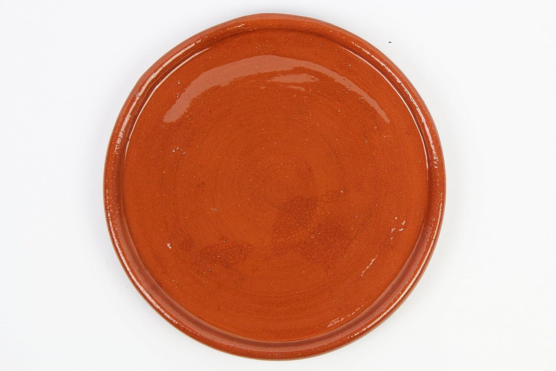 Plato de barro para chuletón, hecho a mano tradicionalmente. Medidas 32 cm diámetro. 2,5cm altura. De muy buena calidad. 2,2 kg Totalmente artesanal
