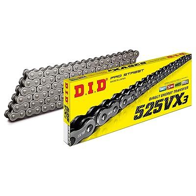 D.I.D 525VX3X110FB Black Steel 525VX3 X-Ring Chain 110 Links: Automotive