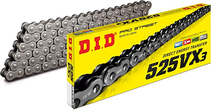 FS-525X-B Heavy Duty Blue X-Ring Chain 525 Pitch x 114 Link XRing With Master Link Factory Spec